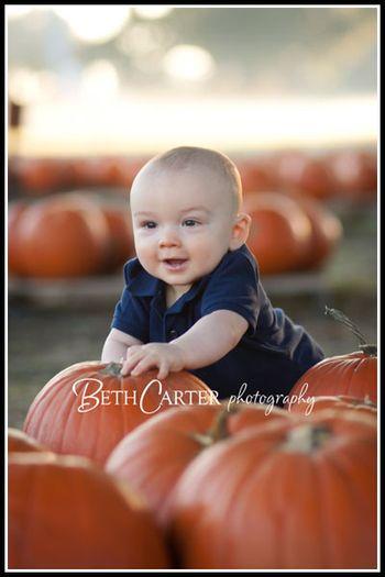Pumpkin Patch & a 9 month old